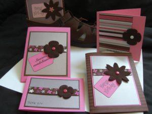 Felt flower cards